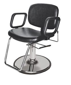 Collins 1800. G QSE Hydraulic Styling Chair w/ Fixed Back & Imported G Base