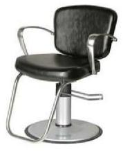 """Collins 8300V """"Milano Hydraulic Styling Chair w/ polished aluminum arms, Enviro Base"""""""