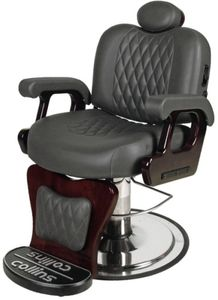 Collins 9060 Commander II Barber Chair Charocal