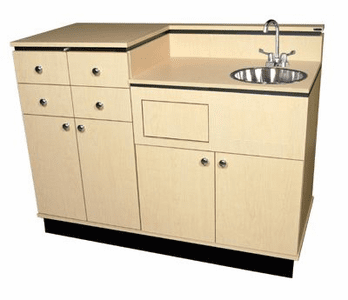 Collins  Bi-Level Private Room Vanity w/ Round Sink 927-54