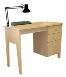 Collins  Bradford Manicure Table with Three Drawers. 884-42-1