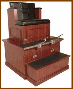 Collins Bradford-Styled Shoe Shine Stand 9040B