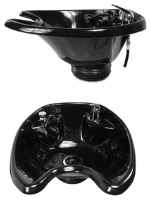"Collins  CB-21 ""ABS Plastic Bowl w/ Fixtures,"