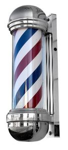 Collins P148 Economical Barber Pole with Light