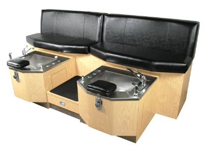 Collins: Custom Twin Bench-Style Pedicure Unit. 74817.20