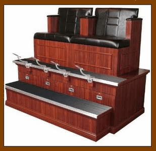 Collins  Double Bradford-Styled Shoe Shine Stand 9040Bx2