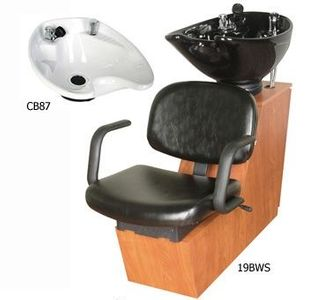 Collins Jaylee19BWS Backwash Shuttle Shampoo w/ CB87 Bowl