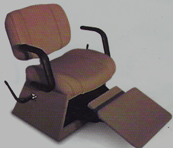 Collins: Marquis Lever-Control Shampoo Chair w/ kick-out legrest  8250L