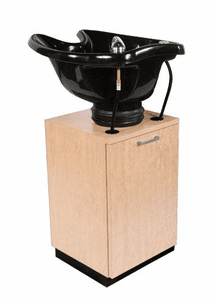Collins T3-16-1 TSB Pedestal Backwash Shampoo with CB21 Italian-Styled Tilting Bowl. Measures 16W x 16D x 26H