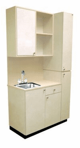 Collins  Private Treatment Room Cabinetry Set w/ Sink 927-48-1