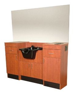Collins   QSE 5501-66 Barber Style Station w/ Mirror and Built-In CB19 Bowl