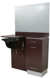 """Collins   4421-42 """"Neo Erie Wet Booth Unit w/ Mirror,Bowl Ordered Separately"""