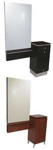 """Collins QSEP Styling Station with  Wall-Mounted Mirror Frame and 30"""" X 48"""" Mirror  404-30"""