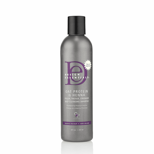 Design Essentials Oat Protein & Henna Fuller, Thicker, Stronger Deep Cleansing Shampoo 8 fl.oz