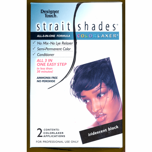 Designer Touch: Strait Shades Colorlaxer (iridescent Black)  2-Appl