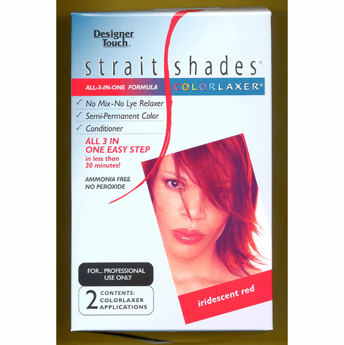 Designer Touch:  Strait Shades Colorlaxer (iridescent red) 2-Appl.
