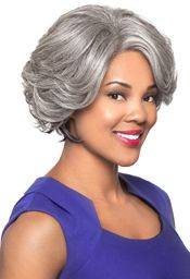 Foxy Silver Collection Lace Front Synthetic Wig (Makayla)