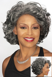 Foxy Silver Synthetic Full Wig (Darlene 10592)