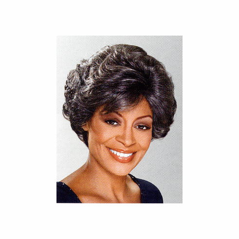 Foxy Silver Monofilament Synthetic Full Wig  (Dolores 10445)