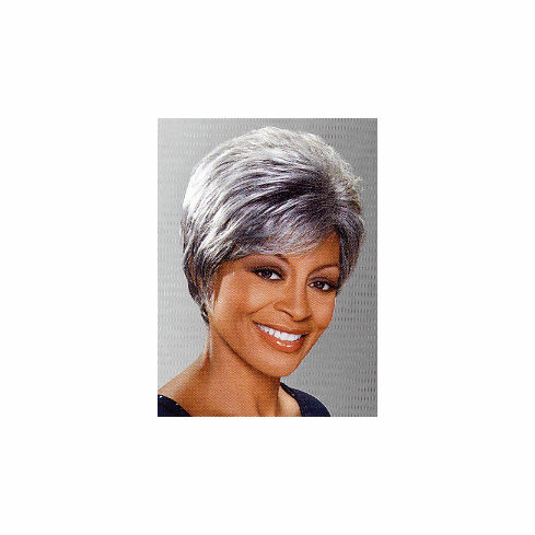 Foxy Silver Monofilament Synthetic Full Wig (Geraldine 10446)
