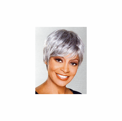 Foxy Silver Monofilament Synthetic Full Wig (Trudy 10447)
