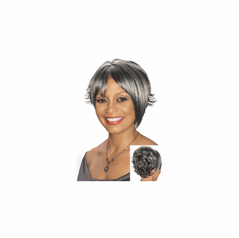 Foxy Silver Synthetic Full Wig (Annmarie 10577)