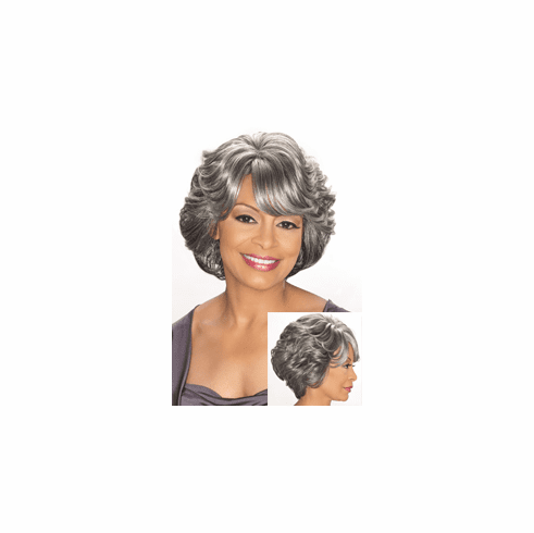 Foxy Silver Synthetic Full Wig (Cece 10652)