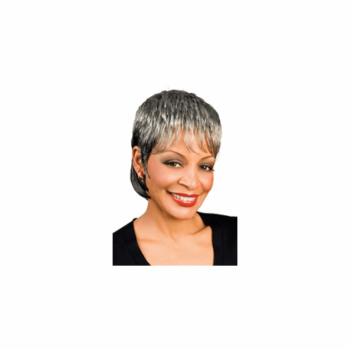 Foxy Silver Synthetic Full Wig (India 10409)