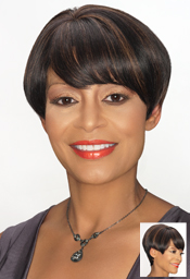 Foxy Sliver Collection Human Hair  Wig ( H/H Maggie 13897)