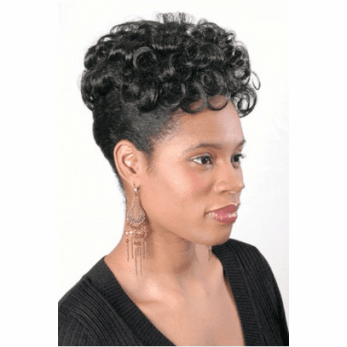 Hair Fashions Synthetic Curly Top Hair Piece (Tawny)