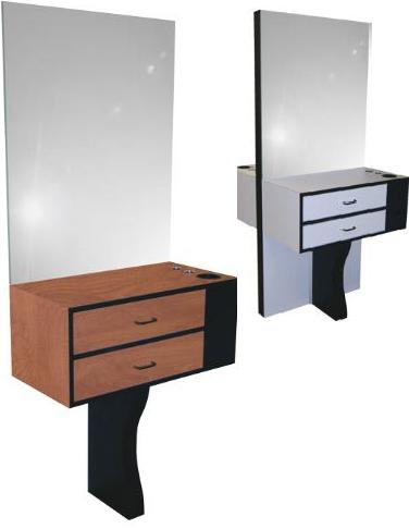 Jeffco 27.2 Air-Flo Back-to-Back Styling Island (Mirrors included)