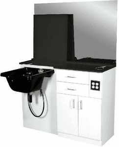 Jeffco  305 Wet Station w/ Mirror, Bowl Ordered Separately