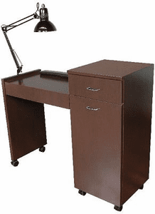 Jeffco J42 Java 42 Nail Table w/ Lamp & Wrist Rest