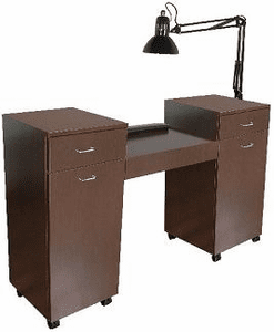 Jeffco J56 Java 56 Nail Table w/ Lamp & Wrist Rest