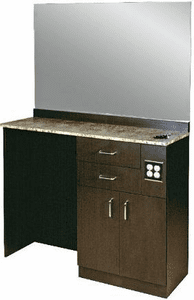 "Jeffco The 314 Styling Station w/36"" x 48 x 1/4"" mirror"