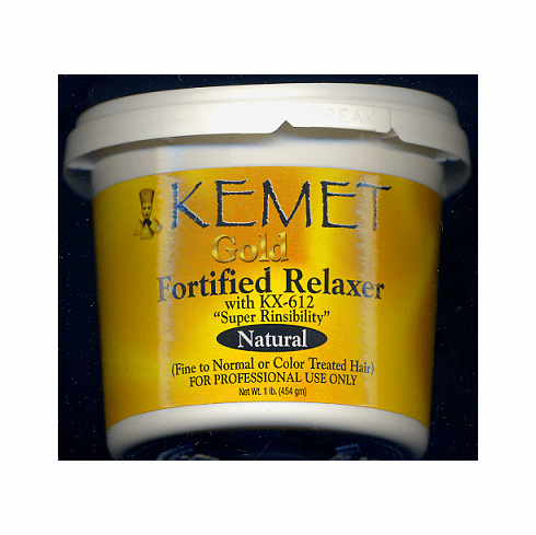 Kemet: Gold Fortified Relaxer  With KX-612  (Super Rinsibility  Natural Fine To Normal Or Color Treated  Hair  1-lb