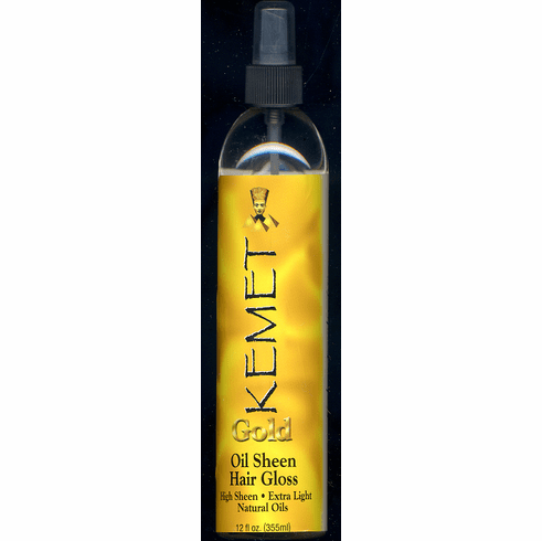 Kemet  Gold  Oil Sheen Hair Gloss  12 fl. oz.