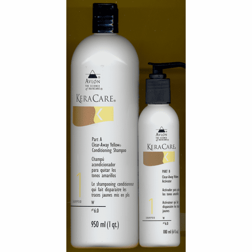 keracare Clear-Away Yellow Conditioning Shampoo & Activator 32 fl.oz