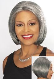 Foxy Silver Collection Lace Front Synthetic Wig (Eleanor)