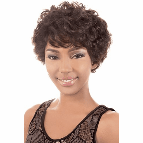 Motown Tress  Human Hair Wig Curly (HR. EMO)
