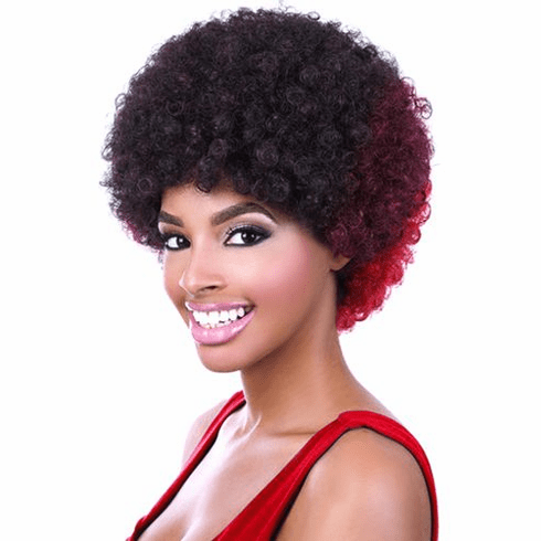 Motown Tress Synthetic Wig  Curly  (AFRO)