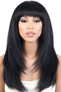Motown Tress Synthetic Wig Straight  Y. NYX Bang Texture Layered Straight Short Wig OL21""