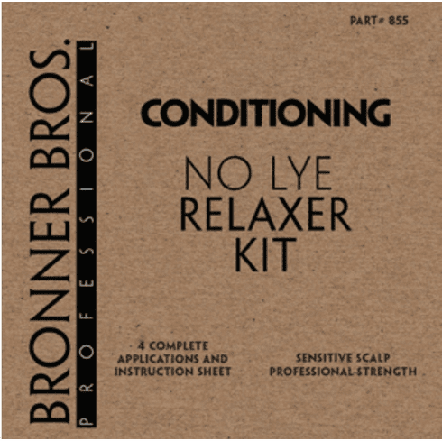 Bronner Bros Professional No Lye Sensitive Scalp Relaxer Kit (4 Applications)