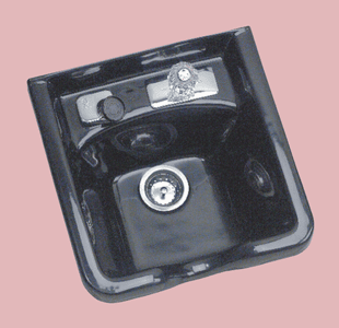 Pibbs: 5350 Shampoo Bowl W/ Single Faucet - Black