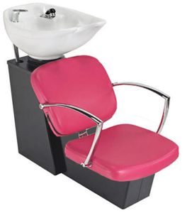 Pibbs Pisa 5237W Backwash With Chrome Arms Sliding Chair & Tilting Bowl