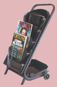 "Pibbs: ""Scoop"" Magazine Rack - Black (Art-55)"