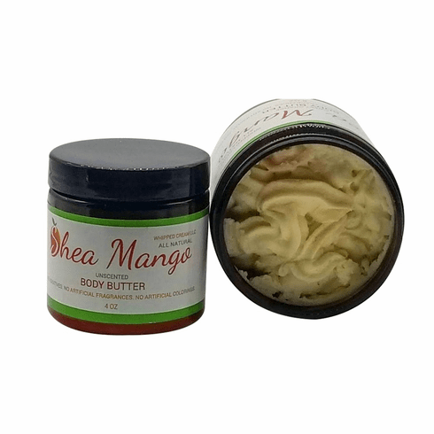 Shea Mango Body Butter - Unscented, 2 oz, 4 oz and 8 oz