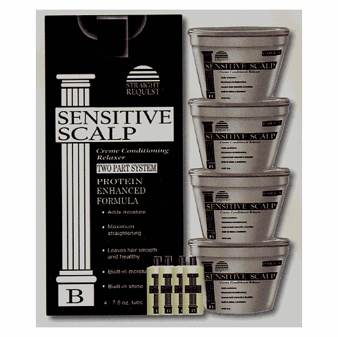 Straight Request Sensitive Scalp Moisture Enhanced Formula (Black Kit) 4PK