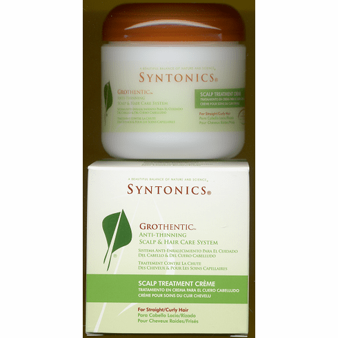 Syntonics: Grothentic Anti-Thinning  Scalp Treatment Creme  For Straight/Curly Hair  4oz