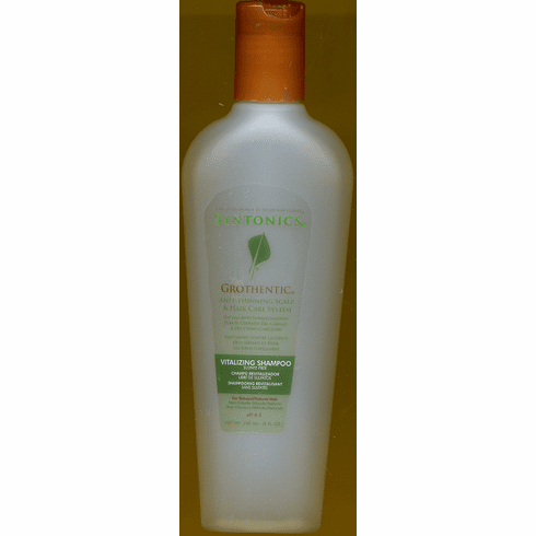 Syntonics: Grothentic Anti-Thinning Vitalizing Shampoo  For Relaxed/Natural Hair 8oz